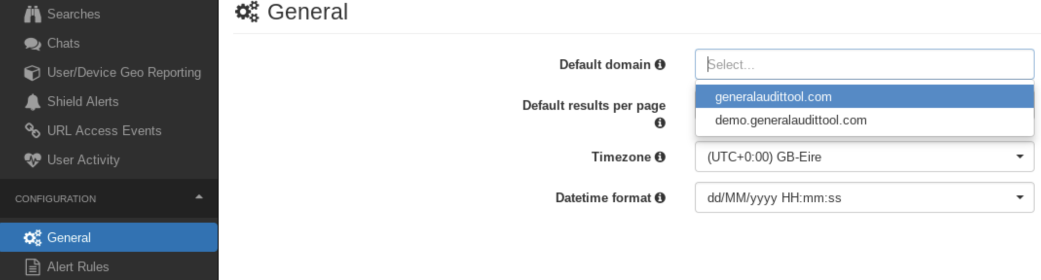 GAT Shield default settings