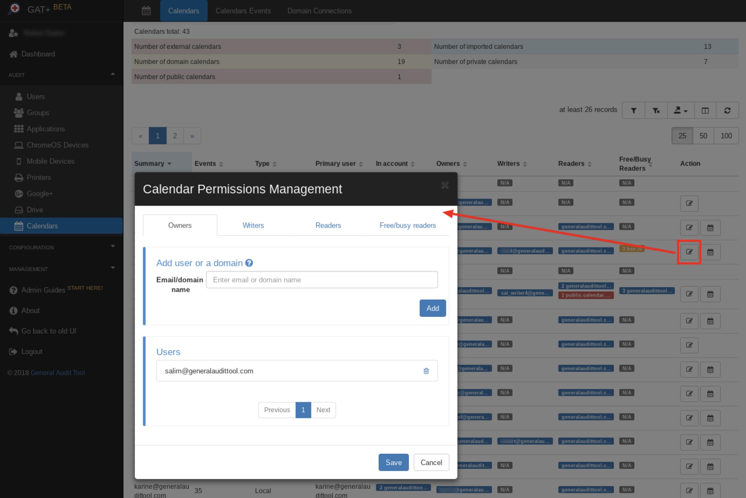 powerful Google Calendar audit
