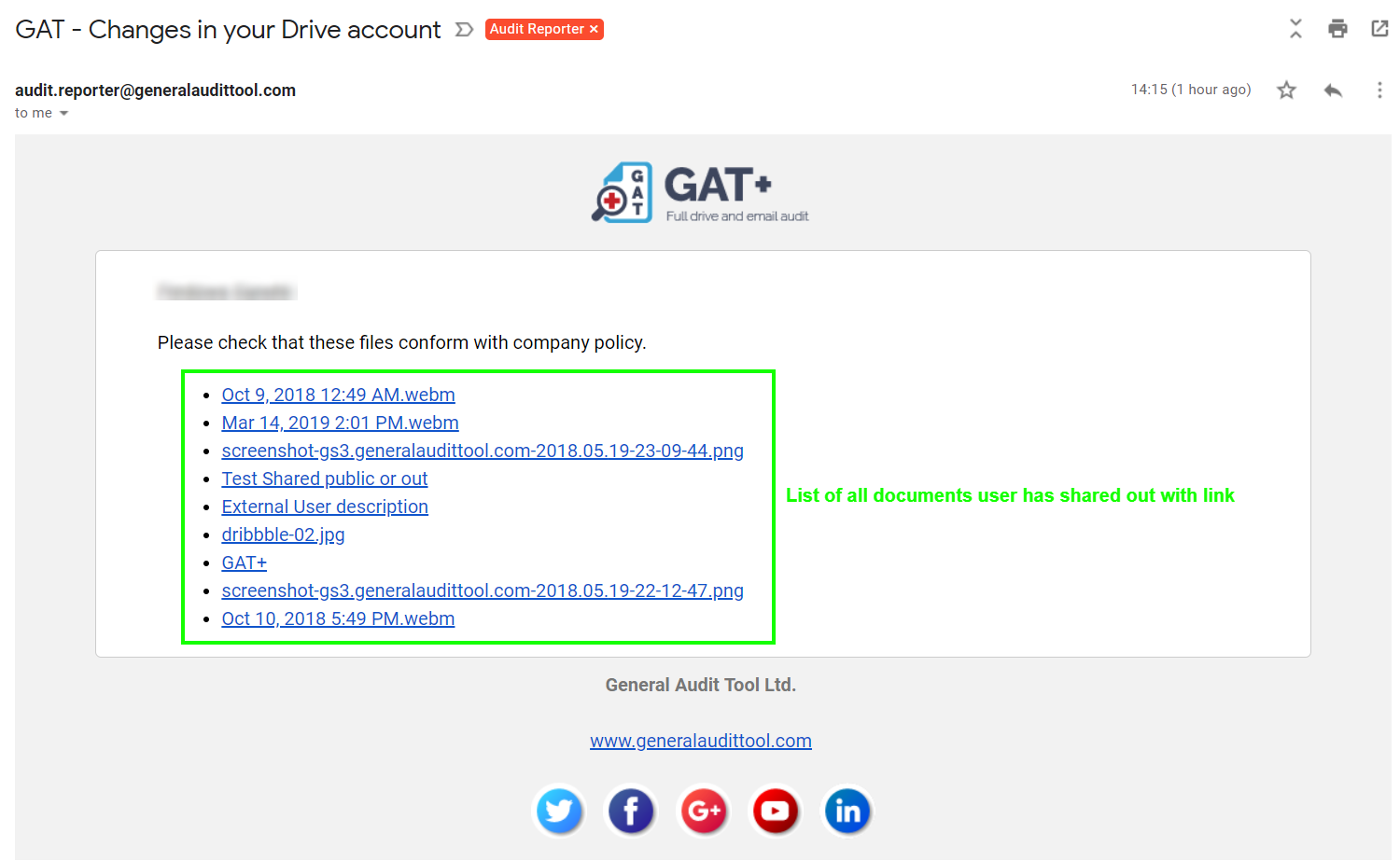 GAT+: Best Practice - How to Remove Permissions for 'Docs Shared with Link' 3
