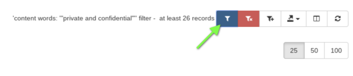 Click on the 'Apple custom filter' button to build on top of the current filter.