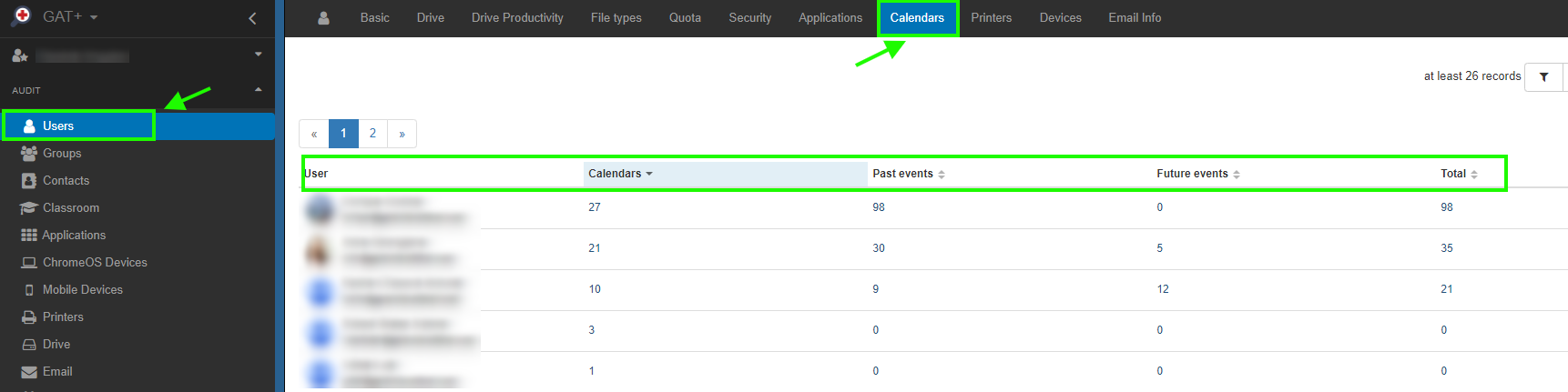 GAT+: Google Calendar Audit 3