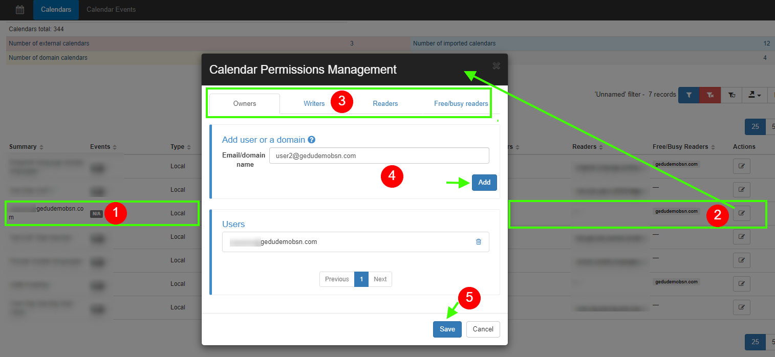 GAT+ Google Calendar Audit: Add additional Owners to Any Existing Calendar 1