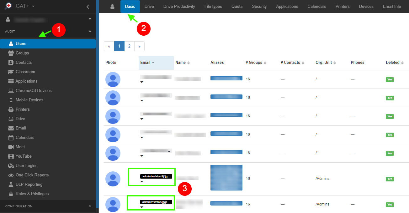 GAT+: Google Workspace Account Activity Reports - Identify Suspended Accounts 1