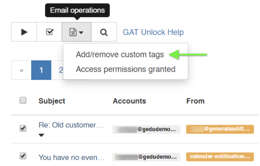 GAT+: Tag Files or Emails for Review and Compliance 5