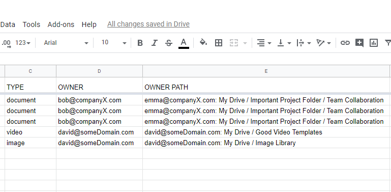 GAT+: Google Drive Audit Export Options 3